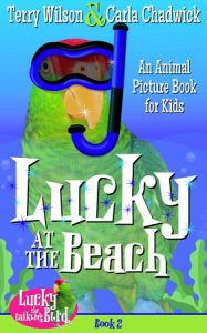 Lucky at the Beach kindle parrot book